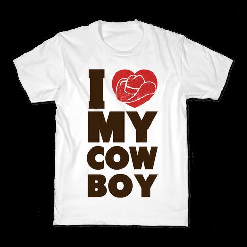 I Love My Cowboy Kids T-Shirt