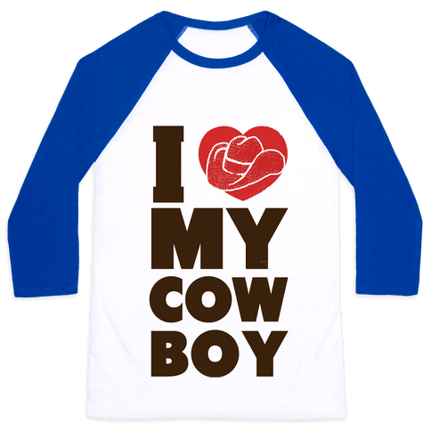 I Love My Cowboy Baseball Tee