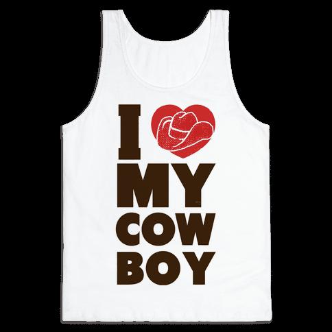 I Love My Cowboy Tank Top