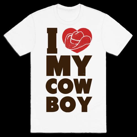 I Love My Cowboy Mens T-Shirt