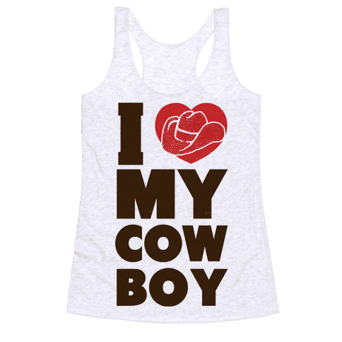 I Love My Cowboy Racerback Tank Top