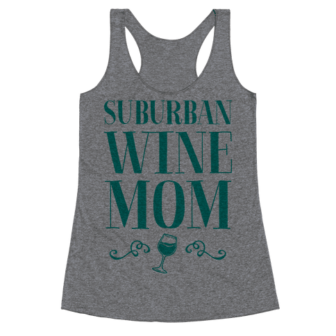 Suburban Wine Mom Racerback Tank Top