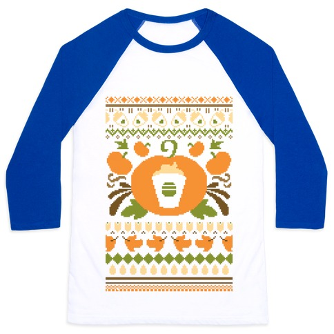 Ugly Pumpkin Spice Sweater Baseball Tee