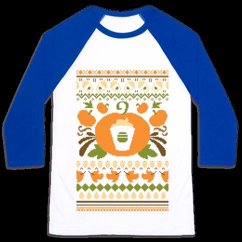Ugly Pumpkin Spice Sweater Baseball Tee