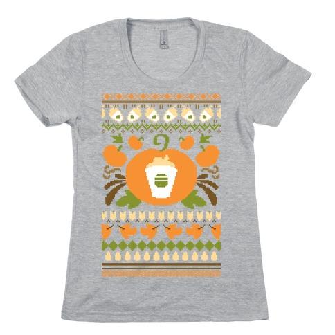 Ugly Pumpkin Spice Sweater Womens T-Shirt