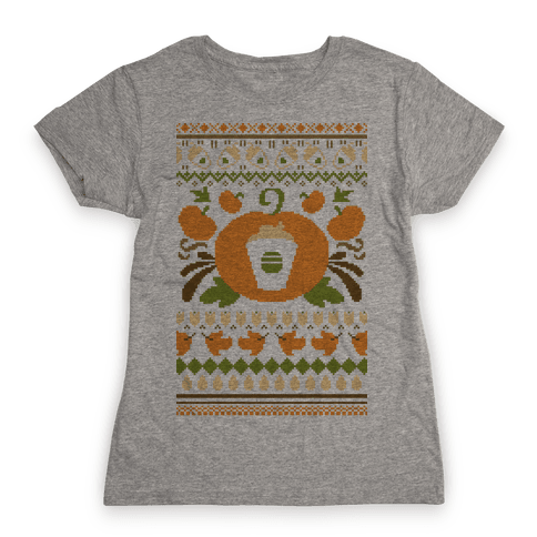Ugly Pumpkin Spice Sweater Womens T-Shirt