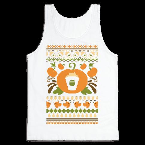 Ugly Pumpkin Spice Sweater Tank Top