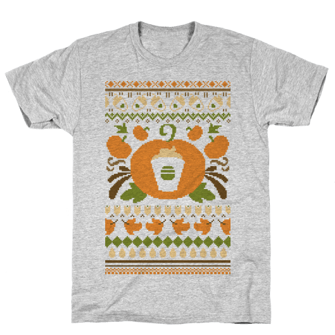 Ugly Pumpkin Spice Sweater Mens T-Shirt