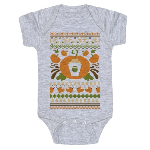 Ugly Pumpkin Spice Sweater Baby Onesy