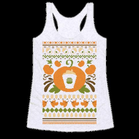 Ugly Pumpkin Spice Sweater Racerback Tank Top