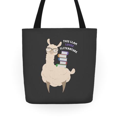 This Llam Loves Lliterature Tote