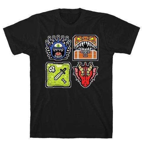 Pixel DnD Monsters T-Shirt