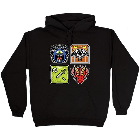 Pixel DnD Monsters Hooded Sweatshirt