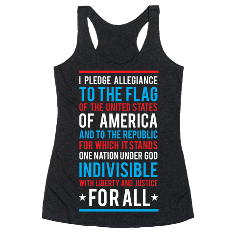 Pledge of Allegiance Racerback Tank Top