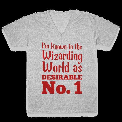 Desirable No. 1 V-Neck Tee Shirt