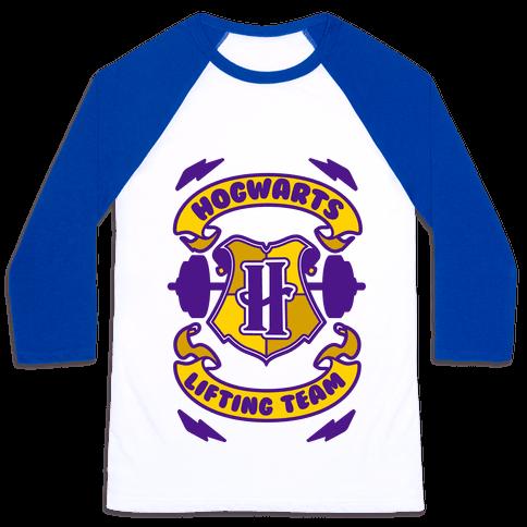 Hogwarts Lifting Team Baseball Tee