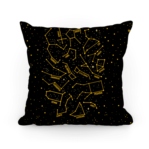 Constellation Star Pattern Pillow