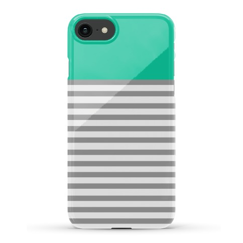 Green Color Block Stripe Pattern Phone Case