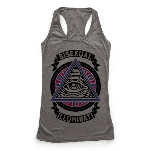 Bisexual Illuminati Racerback Tank Top