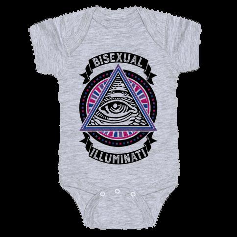 Bisexual Illuminati Baby Onesy