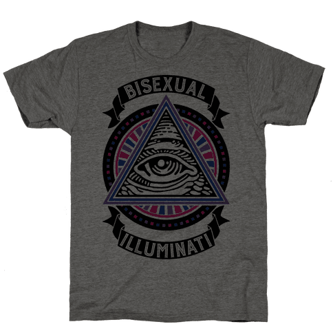 Bisexual Illuminati Mens T-Shirt