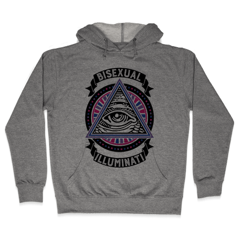 Bisexual Illuminati Hooded Sweatshirt