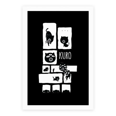 Kuro Cat Poster