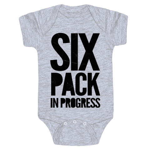 Six Pack In Progress Baby Onesy