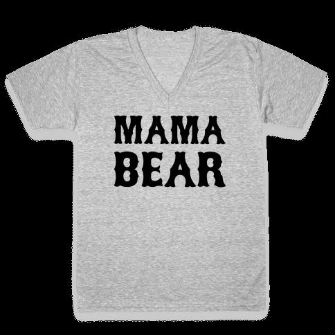 Mama Bear V-Neck Tee Shirt