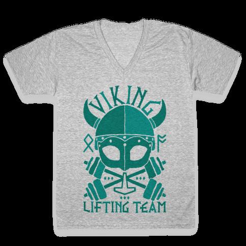 Viking Lifting Team V-Neck Tee Shirt