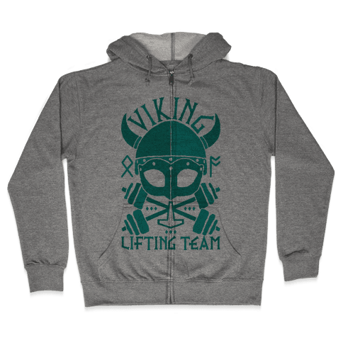 Viking Lifting Team Zip Hoodie