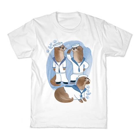 Sea Sailor Otters Kids T-Shirt