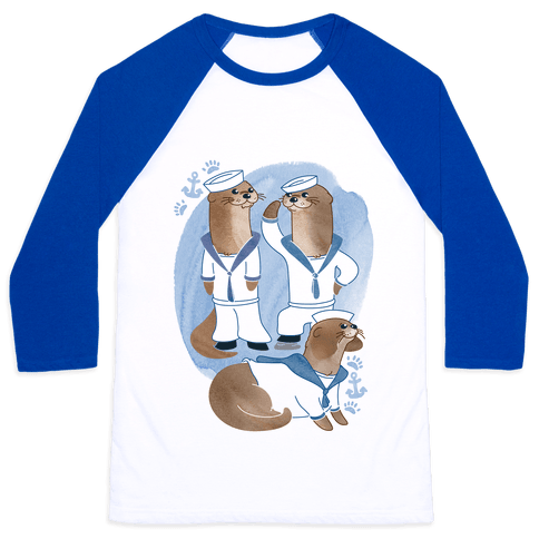 Sea Sailor Otters Baseball Tee