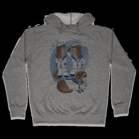 Sea Sailor Otters Hooded Sweatshirt