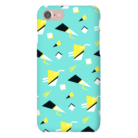 Teal 80s/90s Pattern Phone Case