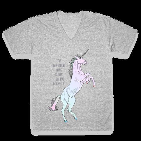 I Believe In Myself V-Neck Tee Shirt