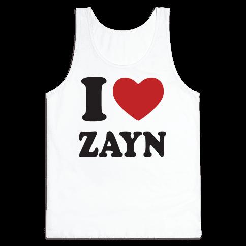 I Love Zayn Tank Top