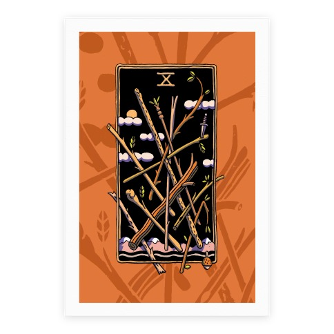 Ten Of Wands Poster