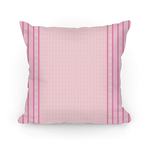 Pastel Pink Stripes and Polka Dots Pillow
