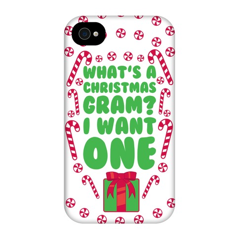 Christmas Phone Case.What S A Christmas Gram Phone Case Phone Case Lookhuman