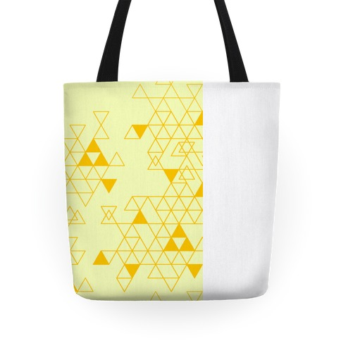 Geometric Triforce Pattern Tote