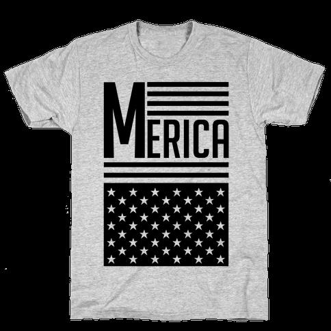 Merican Flag Mens T-Shirt