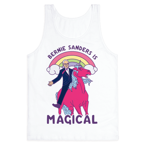 Bernie Sanders on a Magical Unicorn Tank Top
