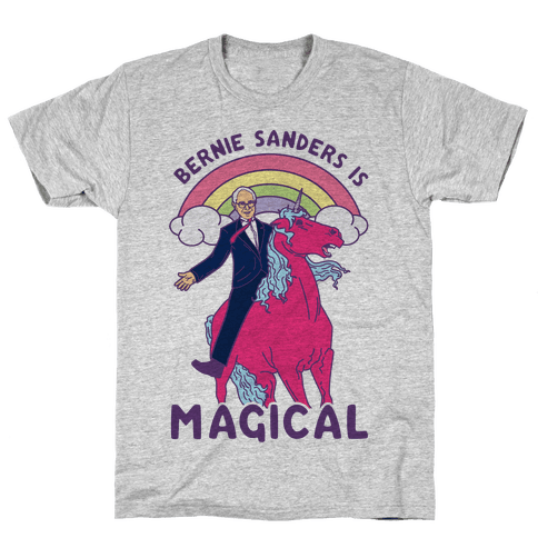 Bernie Sanders on a Magical Unicorn Mens T-Shirt