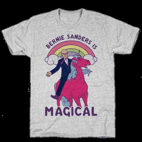 Bernie Sanders on a Magical Unicorn Mens T-Shirt