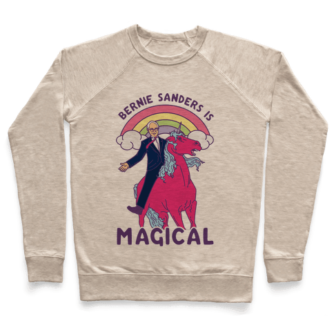 Bernie Sanders on a Magical Unicorn Pullover