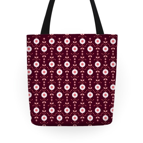 Retro Flower Pattern Tote Tote
