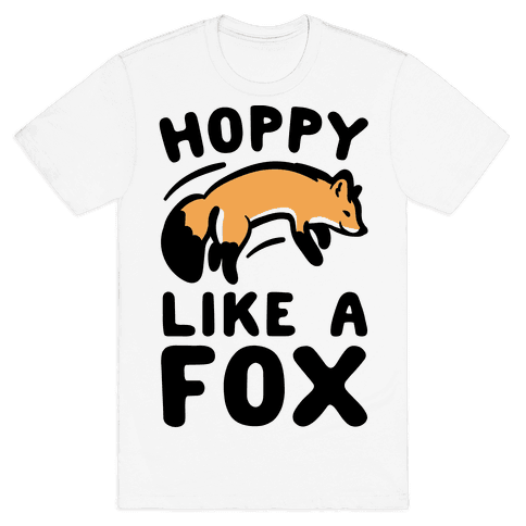 Hoppy Like A Fox Mens T-Shirt