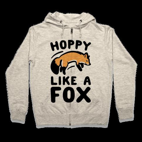 Hoppy Like A Fox Zip Hoodie