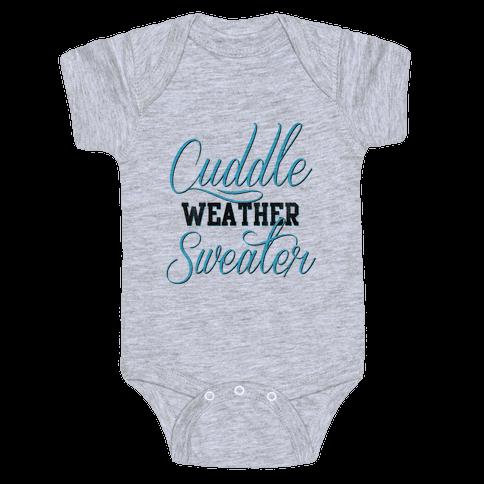 Cuddling Weather Baby Onesy